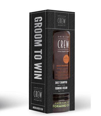 American Crew Forming Cream 85gr + Gratis Daily Shampoo #American #Crew #haarproducten #haarverzorging #kappersbenodigdheden #barbershop #heren #man