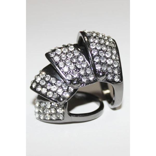 Diamante Sheetmetal Ring ($14) ❤ liked on Polyvore