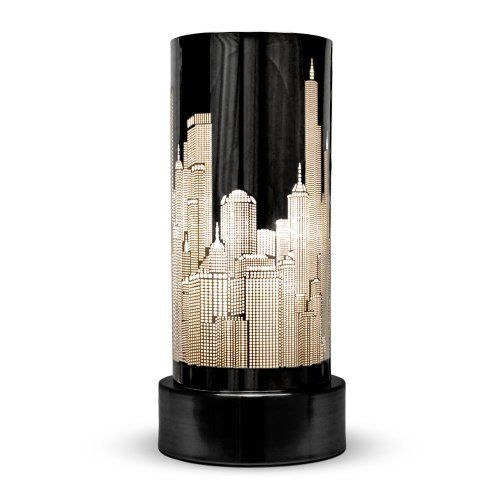 I must find this here in the u s gloss black touch bedside table lamp with new york skyline - Touch lamps for bedside table ...