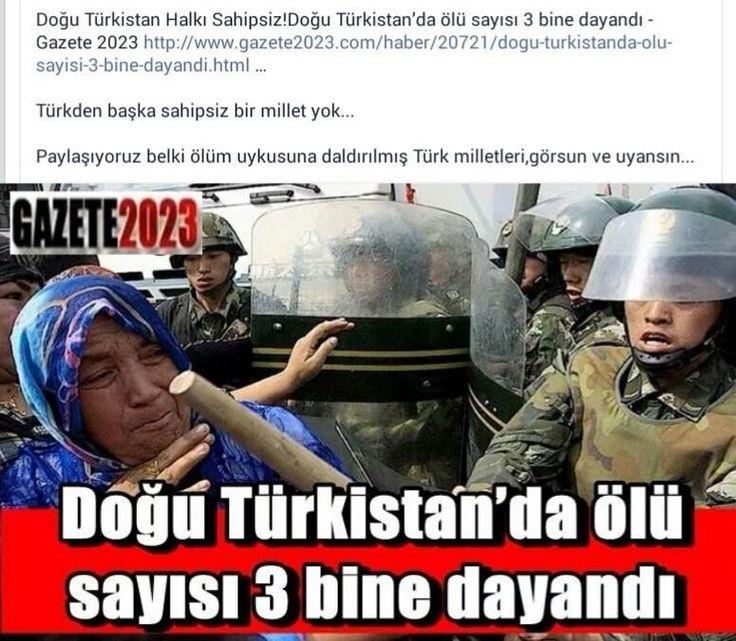 #DoğuTürkistan