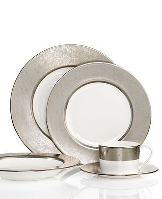 Donna Karan by Lenox Dinnerware, Platinum Voile Collection