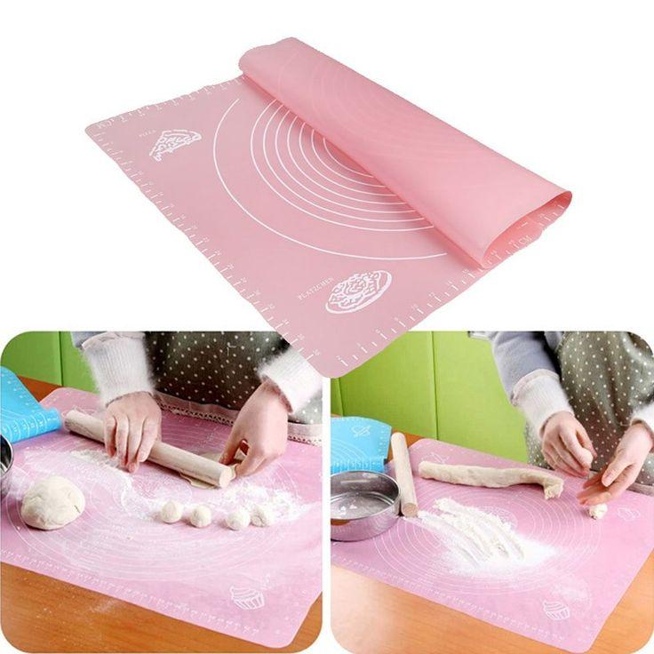 Zorasun Silicone Baking Mat Liners Cake Rolling Cuttinig Pizza Dough Fondant Mat Pastry Tools #Affiliate