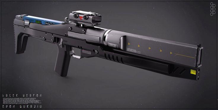 Future Weapon Concepts, Edon Guraziu on ArtStation at https://www.artstation.com/artwork/laser-weapon-concept