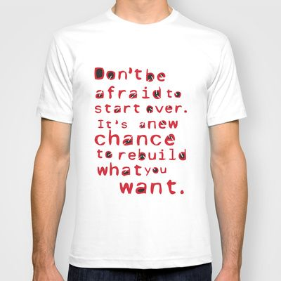 A New Chance T-shirt by Abanoub Sobhy - $18.00