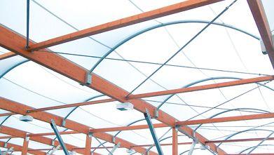 Cubierta sala polivalente - SMC2 Construccion - Arquitectura Textil