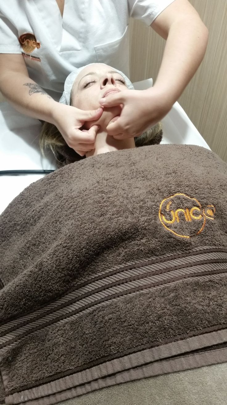 Another happy regular customer having an anti ageing treatment.