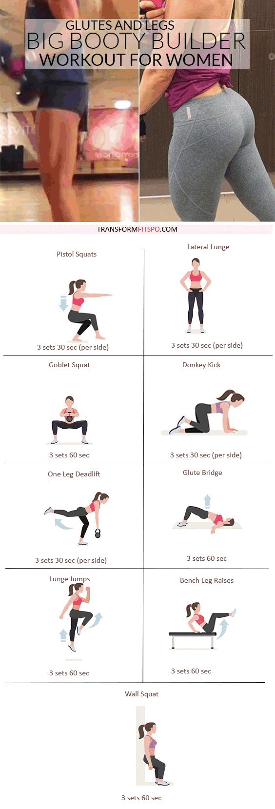 #womensworkout #workout #femalefitness Repin and share if this workout gave you crazy booty size! Click the pin for the full workout.