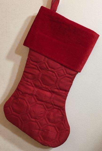 Solid Red Quilted Embroidered Christmas Stocking Products in 2018