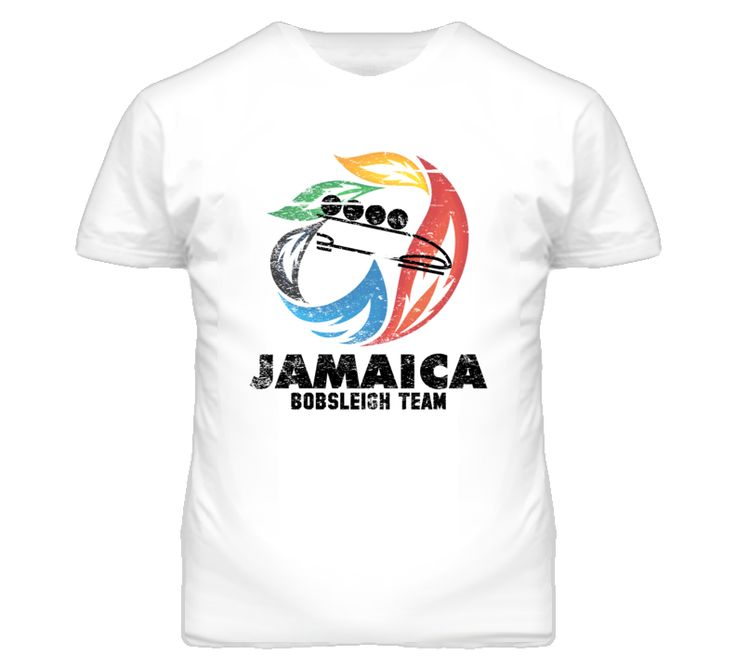 Jamaica Bobsleigh Team 2014 Olympic Sochi Vintage Distressed T Shirt
