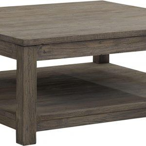 Oversized Square Wood Coffee Table