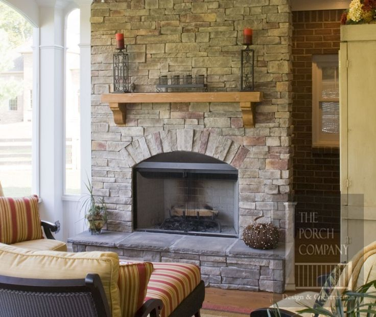 103 best Stone Fireplaces images on Pinterest | Stone fireplaces ...
