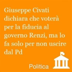 """Civati: """"Io voterei no."""" Leggi le notizie del giorno su www.newdle.it"""