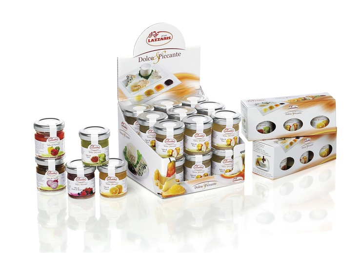 Lazzaris Sweet-spicy Sauces New Packaging  Il nuovo packaging delle salse di frutta Lazzaris