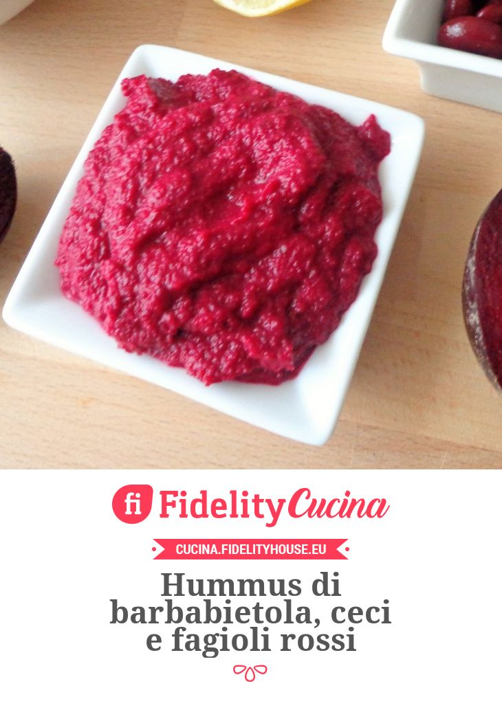 Hummus di barbabietola, ceci e fagioli rossi