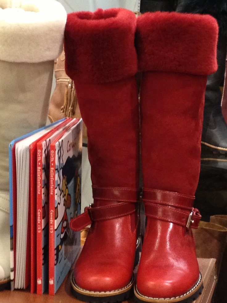 Roots Canada - boots captured in the store. Covet