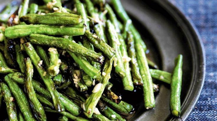 Stir-fried snake beans