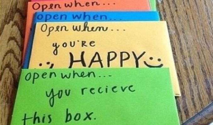 """We've got an awesome and cute DIY for sentimental gifts for anyone! On our blog: """"Open When"""" Letters"""