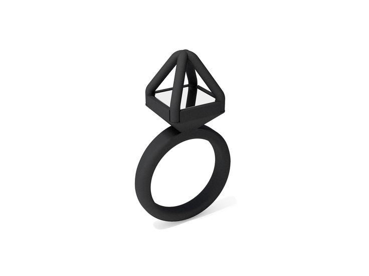 Anel fosco, em impressão de nylon na cor preto, produzido em material maleável e resistente nos tamanhos G | GG. #FujaDoTédio #UseNoiga #MadeInBrasil #3DPrint #Noigando