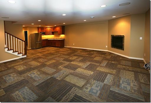 carpet tiles for basement installation | Awesome Carpet Tiles For Basement Interior Decor ...