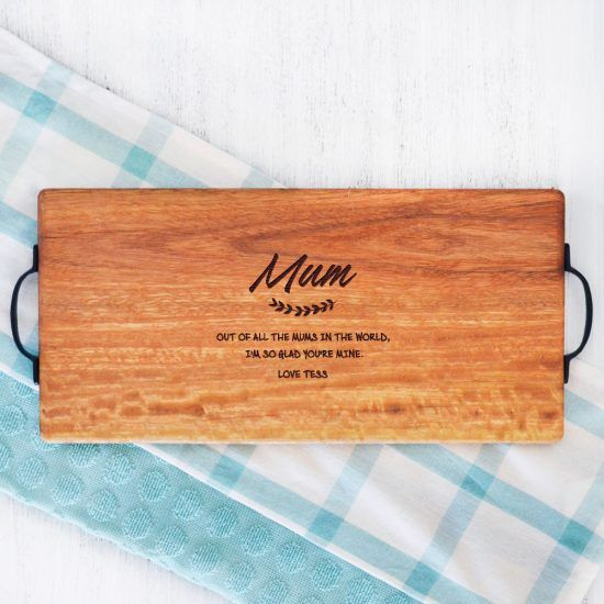 Personalised Mum Quote Chopping Board