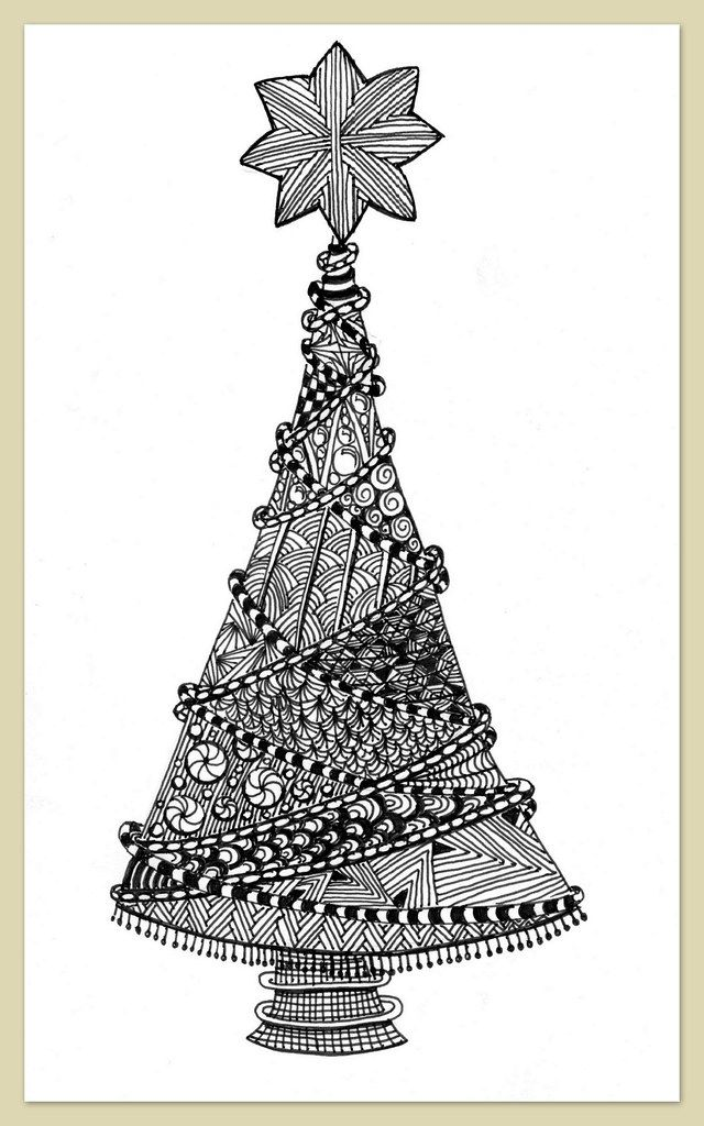 1000 Images About Christmas Zentangle Ideas On Pinterest Zentangle Patterns Christmas Tree Zentangle Zentangle