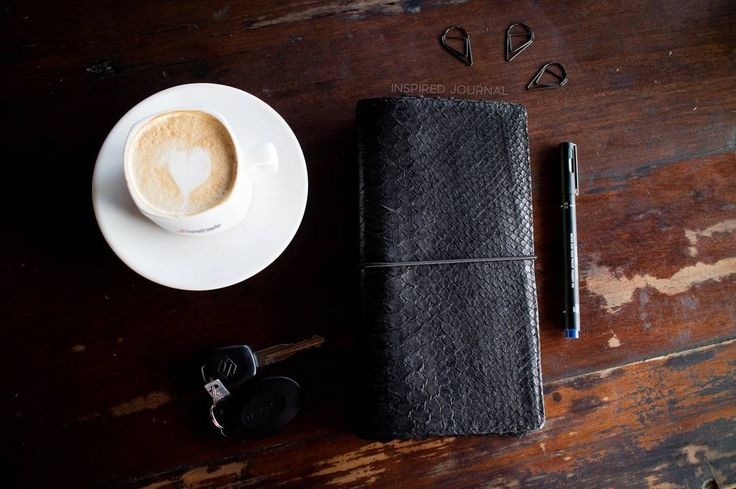 ♛ This very classy traveller's notebook is waiting for you!  You can get it from our etsy shop ~ see link in profile ~ Worldwide shipping available!