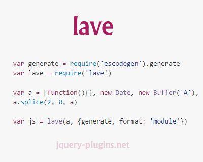 lave – Stringifying All Stuff That JSON.stringify Won't #json #javascript #stringify #ff