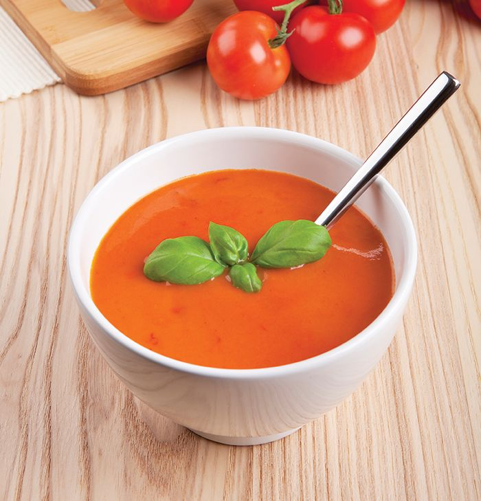 Tomato Basil Soup   Fall is approaching which means there's no better time to have a couple hot soup recipes to make when the season starts to show. You may have never used a blender to make a soup, but it's a great way to unlock those fresh, rich flavors from your ingredients. Here's a simple tomato soup you can bui...