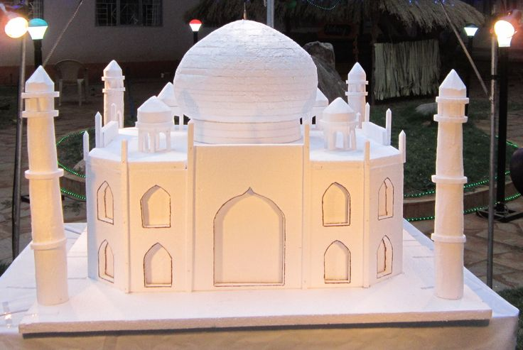 Taj Mahal Model made of thermocol | Taj mahal, Ramadan ...