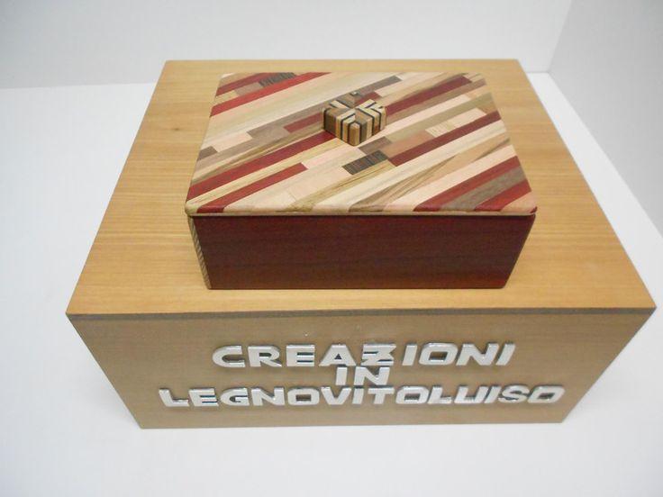 SCATOLA IN LEGNO RETTANGOLARE CON COPERCHIO  -1- di creazioniinlegnovitoluiso su DaWanda.com