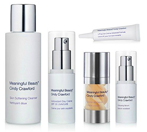 Meaningful Beauty Cindy Crawford Advanced Skin Care System-5 Piece 90 Day Supply