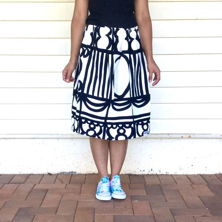 Monochromaniac skirt from Kablooie Store - bold, colourful, quirky fashion for ladies! Be fabulous!!