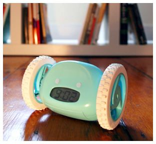 A clock that runs away from you so you have to get up lol... Genius! It's The Clocky :)) I'll take one for my teen son please!
