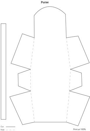 purse template: Template & Printable Patterns