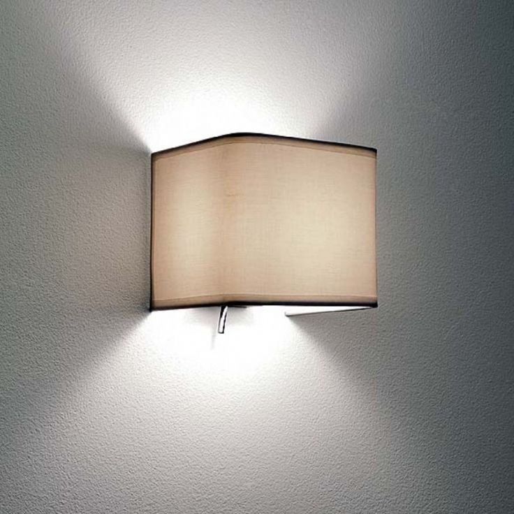 107 best lighting images on pinterest light fixtures sconces and wall light with a white fabric shade aloadofball Gallery