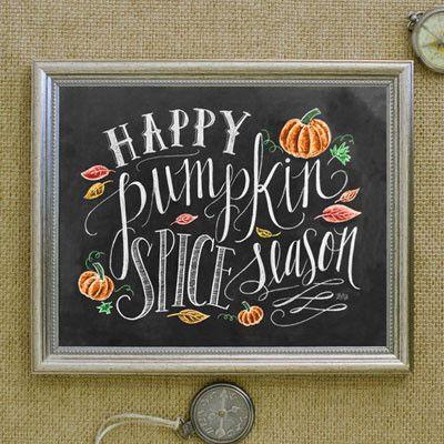 Happy Pumpkin Spice Season - Fall Decore - Lily