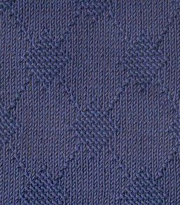 Large Texture Argyle Free Knitting Stitch. Argyle pattern knitting stitch using knit and purl stitches. More great patterns like this: Texture Argyle Free Knitting Stitch Small Textured Argyle Free Knitting Stitch Diamond Motif Free Knitting Stitch Diamond Knit and Purl motif