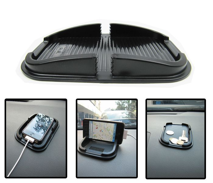 hot sale Car Super Sticky Pad Anti-slip Mat for Phone Black phone holder case for iphone 4/5s/5/plus samsung