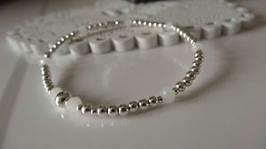 stretch silver and white crystal stacking bracelet hand made gifts uk | eBay