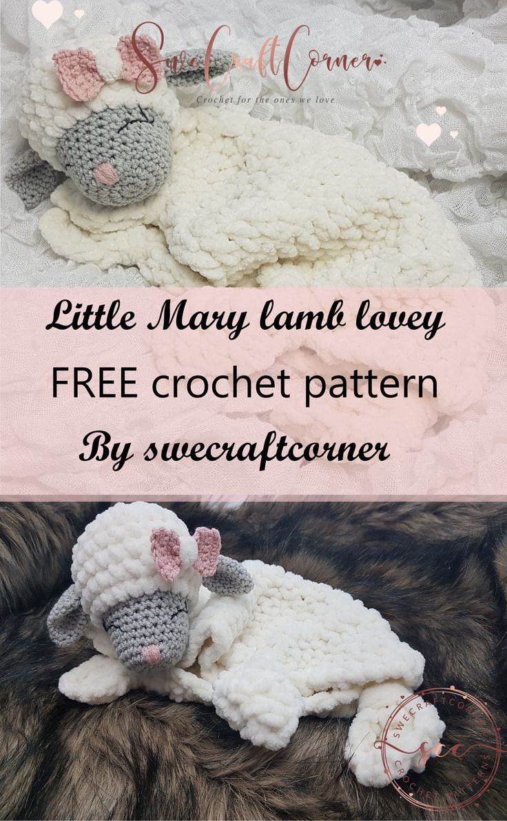 Free Crochet Pattern For Little Mary Lamb Lovey By