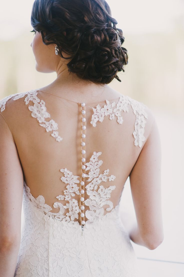 Pippa from the french collection by Wendy Makin. Illusion neckline, lace, body con,