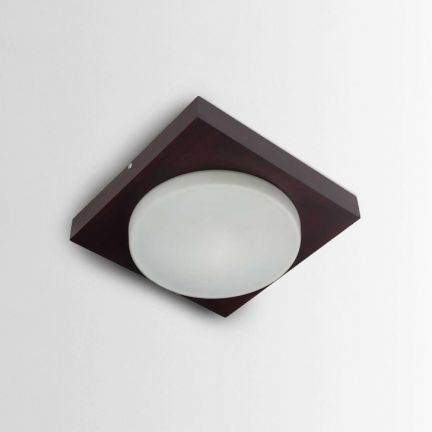 LeArc Designer Modern Ceiling Light - Good lighting has a huge role to play with regard to the quality of your life. This ceiling light is a good way to start overhauling your collection and is made of mild steel, glass and wood for better durability. The lovely brown color makes it easy on the eyes.