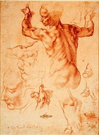 Michelangelo's Libyan Sibyl study is a red chalk drawing (11-3/8 x 8-1/2 inches), which belongs to the Metropolitan Museum of Art, New York.