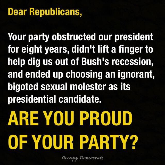 barely fathomable -- republican party deserves to go the way of the dodo.