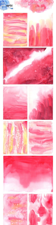 Pink Flow Watercolor