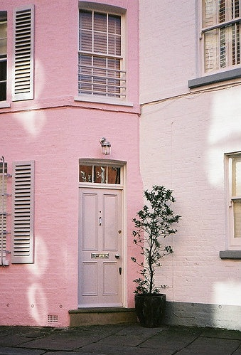 I will live in a pink town house one day.