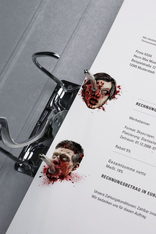 Zombie stationery. Brilliant!: Corporate Design, Walks Dead, Ads Campaigns, Funny Commercial, Stationary Design, The Offices, Hole Punch, Stationery Design, Offices Supplies