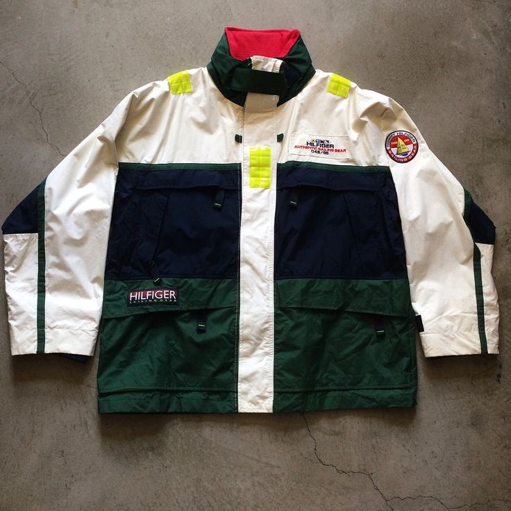"""⛵️⛵️⛵️Tommy Hilfiger Sailing Gear jacket, size XL measures 29"""" pit to pit 37"""" long, $150+$24 domestic shipping. Call 415-796-2398 to purchase or PayPal afterlifeboutique@gmail.com and reference item in post."""