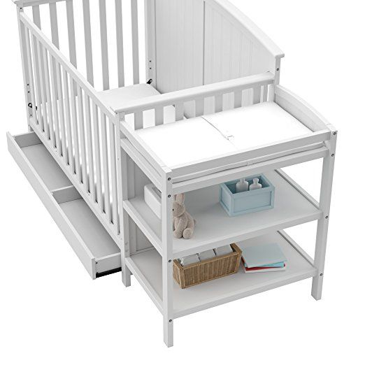 Storkcraft Steveston 4-in-1 Convertible Crib and Changer with Drawer, White  The 4-in-1 Convertible Crib is filled with amazing features that will put you in awe! Grab one now!  Shop here at http://www.convertiblecribsreviews.com/storkcraft-steveston-4-in-1-convertible-crib-and-changer-with-drawer-white  #convertiblecrib #crib #babycrib #babies