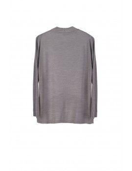 Grey frill blouse
